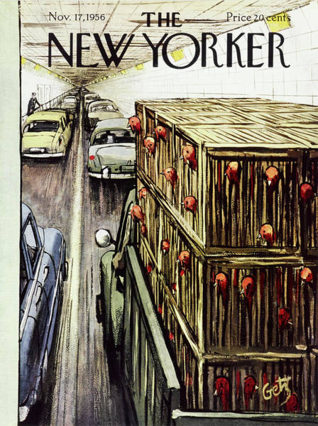 Thanksgiving Painting - New Yorker November 17 1956 by Arthur Getz
