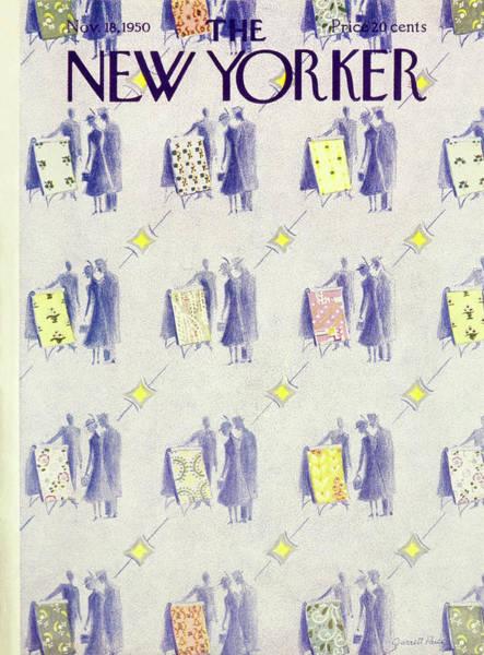 Shopping Painting - New Yorker November 18 1950 by Garrett Price