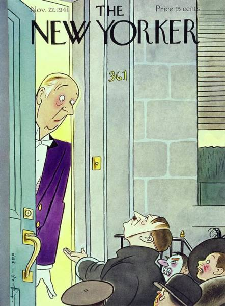 Halloween Painting - New Yorker November 22 1941 by Rea Irvin