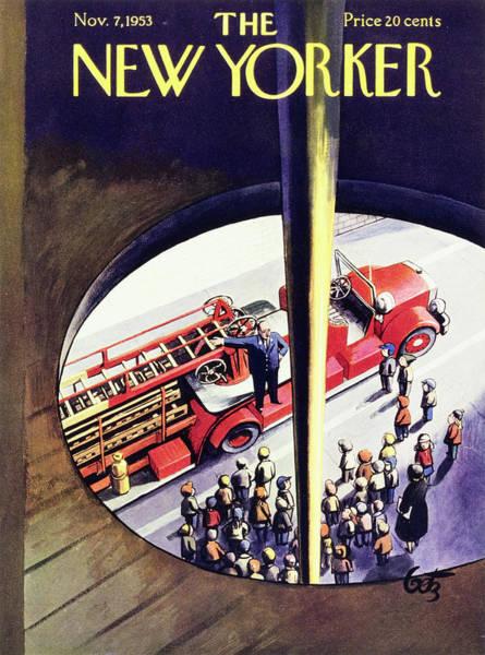 Illustration Painting - New Yorker November 7 1953 by Artur Getz