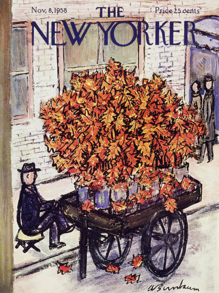 Vendor Painting - New Yorker November 8 1958 by Abe Birnbaum