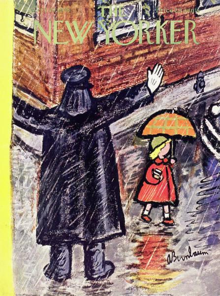 Black Painting - New Yorker October 10 1953 by Abe Birnbaum