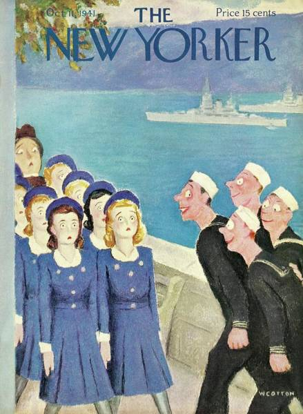 Navy Painting - New Yorker October 11 1941 by William Cotton