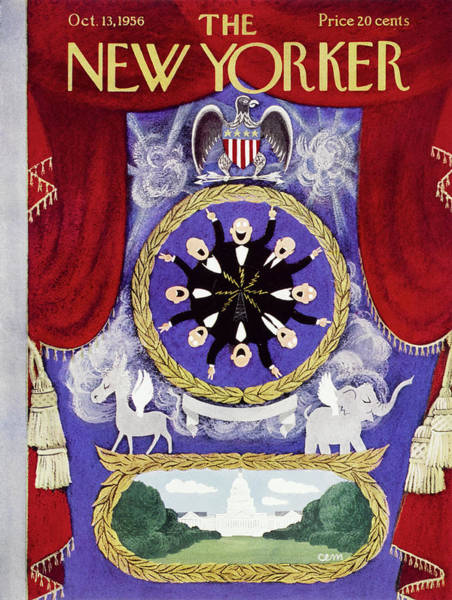 Republican Painting - New Yorker October 13 1956 by Charles E Martin