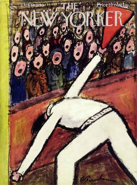 Black Painting - New Yorker October 14 1950 by Abe Birnbaum