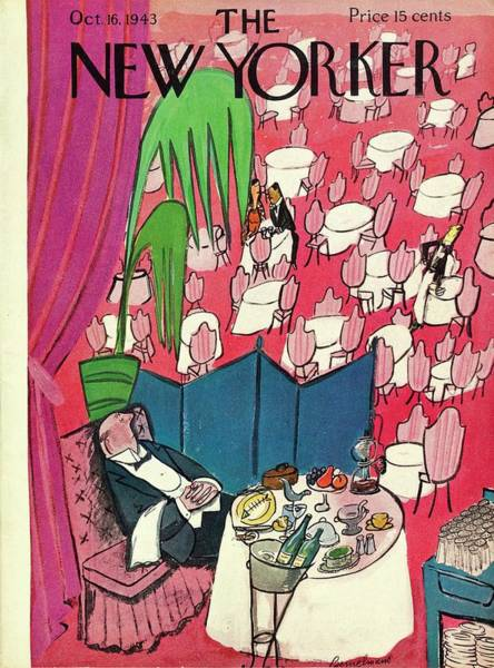 Champagne Painting - New Yorker October 16 1943 by Ludwig Bemelmans