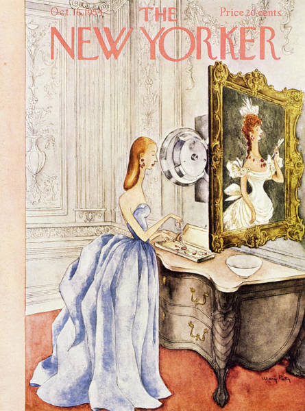 Formal Wear Painting - New Yorker October 16 1954 by Mary Petty
