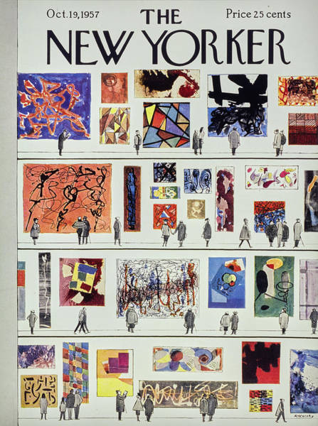 Art Museum Painting - New Yorker October 19th 1957 by Anatole Kovarsky