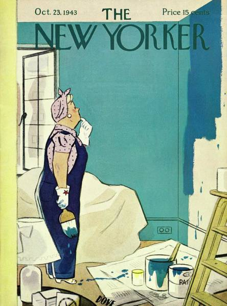 Shaded Painting - New Yorker October 23 1943 by Leonard Dove