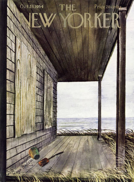 Porch Painting - New Yorker October 23 1954 by Roger Duvoisin