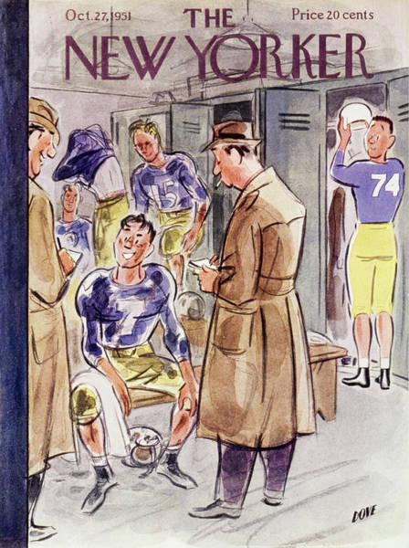 Interview Painting - New Yorker October 27 1951 by Leonard Dove