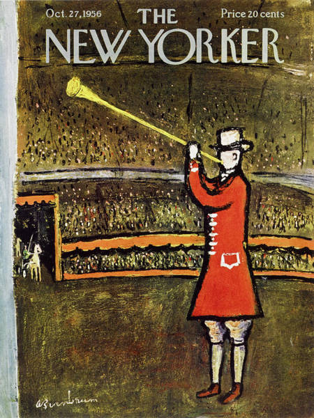 Black Painting - New Yorker October 27 1956 by Abe Birnbaum