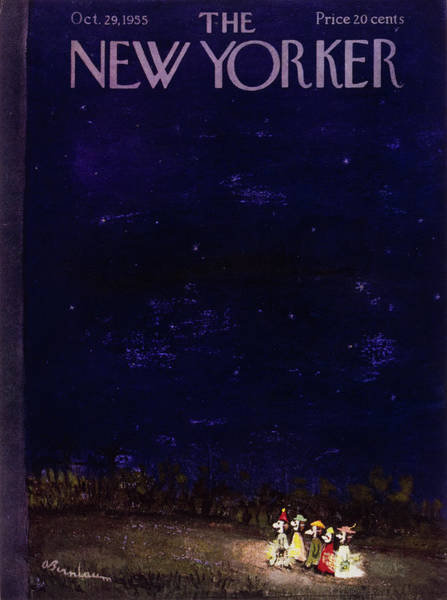 Ghosts Painting - New Yorker October 29 1955 by Abe Birnbaum