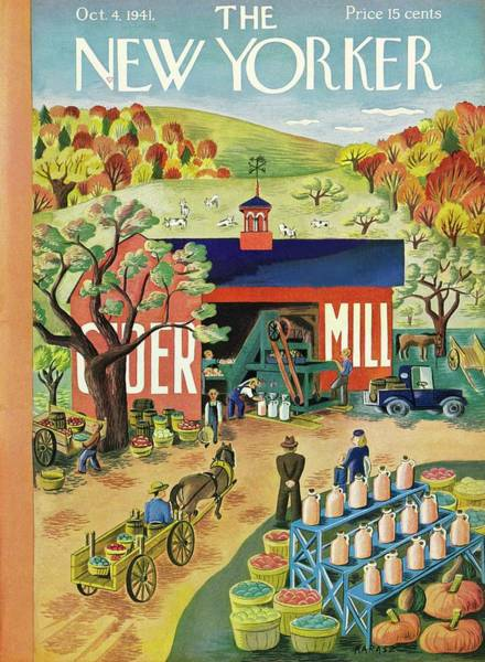 4 Painting - New Yorker October 4 1941 by Ilonka Karasz