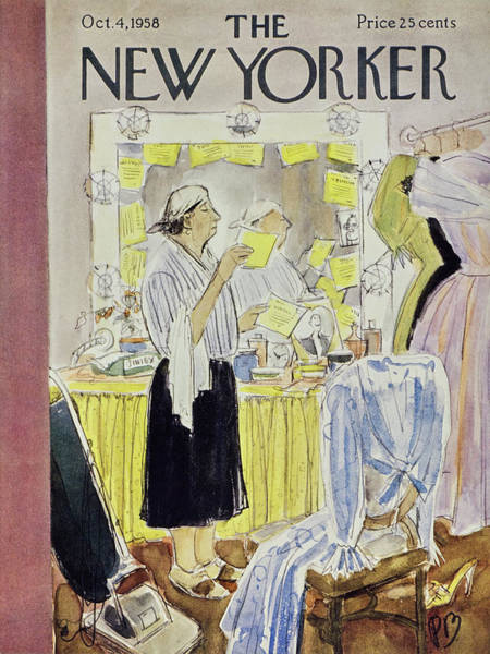 1958 Painting - New Yorker October 4 1958 by Perry Barlow