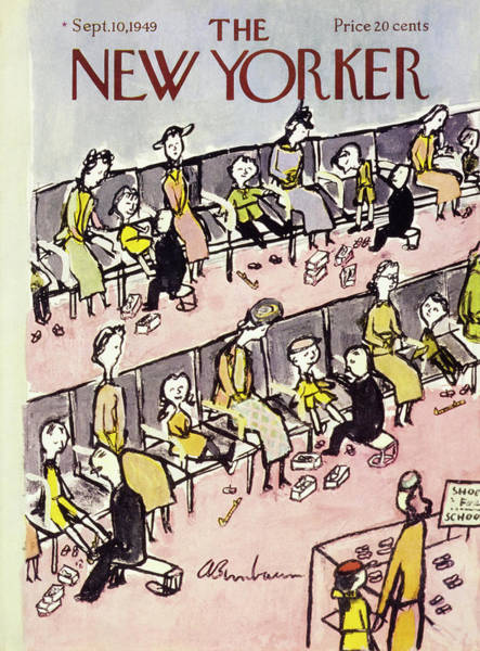 Shoe Painting - New Yorker September 10 1949 by Abe Birnbaum
