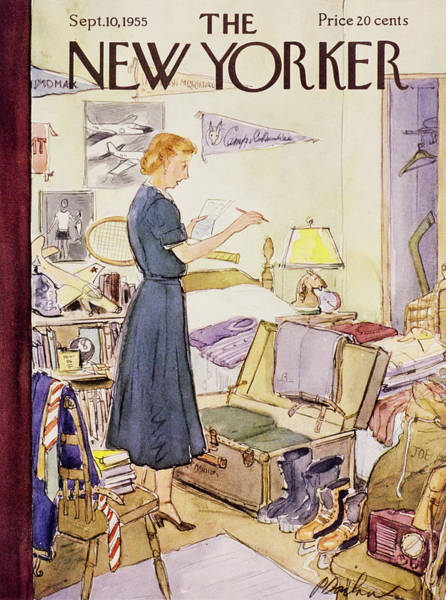 Bedroom Painting - New Yorker September 10 1955 by Perry Barlow