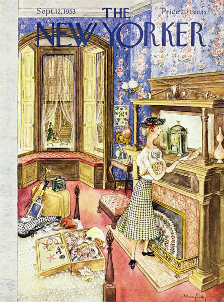 Window Display Painting - New Yorker September 12 1953 by Mary Petty