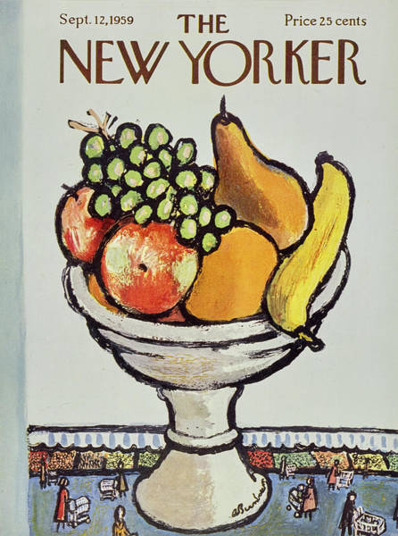 Apples Painting - New Yorker September 12 1959 by Abe Birnbaum