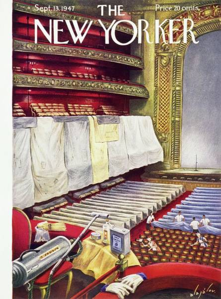 Stage Painting - New Yorker September 13 1947  by Constantin Alajalov