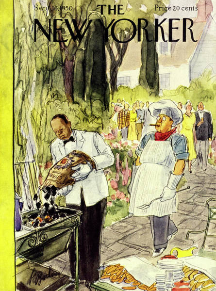 Cook Painting - New Yorker September 16 1950 by Perry Barlow