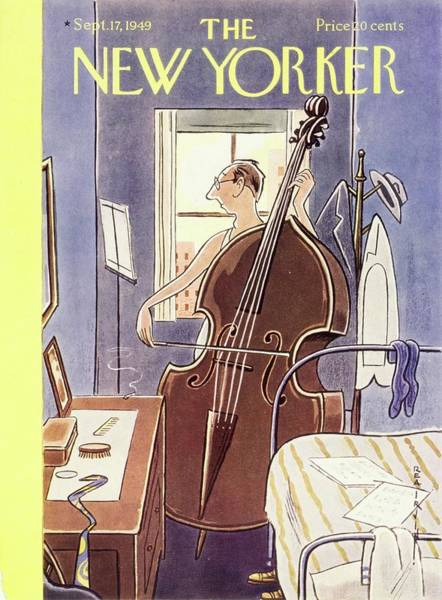 Men Painting - New Yorker September 17th, 1949 by Rea Irvin