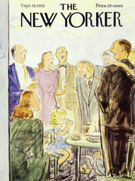 Grandparents Painting - New Yorker September 19 1953 by Perry Barlow