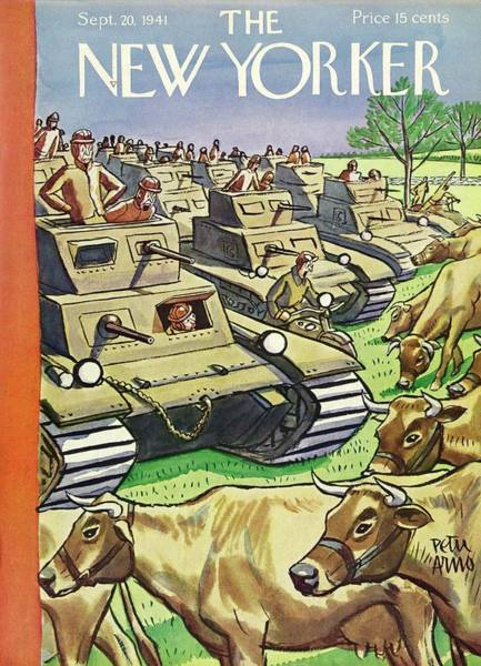 Military Painting - New Yorker September 20 1941 by Peter Arno
