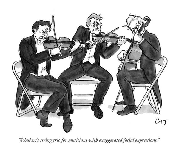 Classical Music Drawing - New Yorker September 21st, 2009 by Carolita Johnson