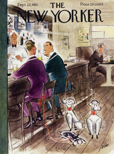 Uniform Painting - New Yorker September 22 1951 by Leonard Dove