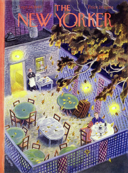 Table Painting - New Yorker September 24 1949 by Tibor Gergely