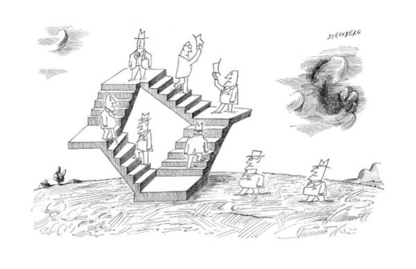 Wall Art - Drawing - New Yorker September 2nd, 1961 by Saul Steinberg