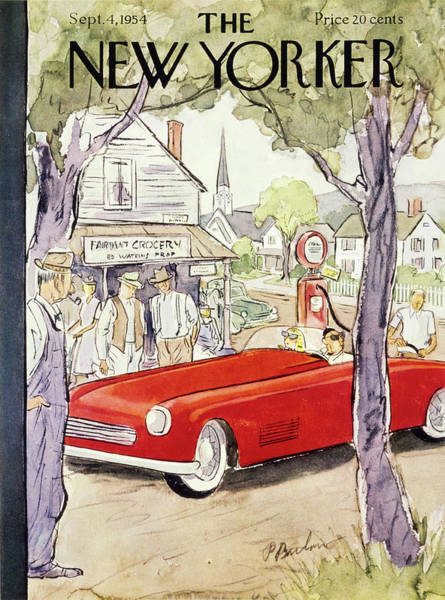Audience Painting - New Yorker September 4 1954 by Perry Barlow