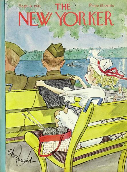 6 Painting - New Yorker September 6 1941 by Barbara Shermund