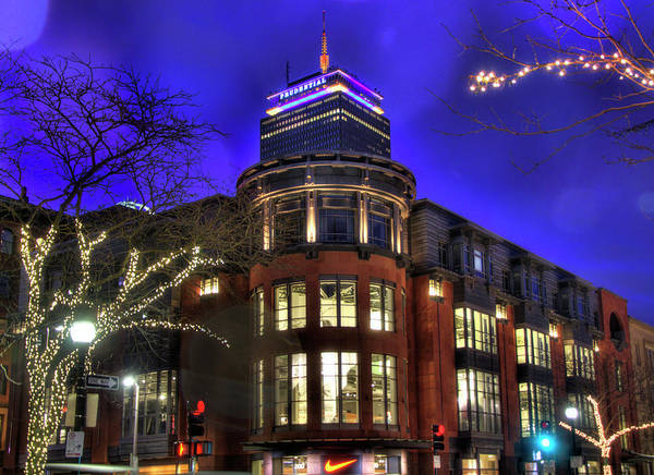 Photograph - Newbury Street And The Prudential - Back Bay - Boston by Joann Vitali