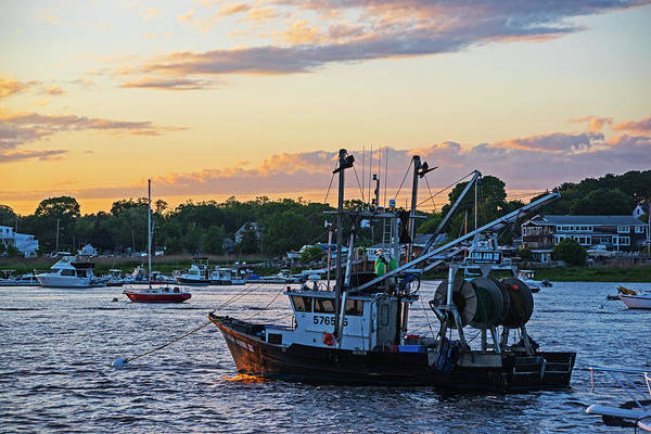 Photograph - Newburyport Fishing Boat At Sunset Newburyport Ma by Toby McGuire