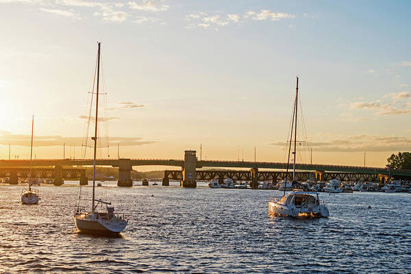 Photograph - Newburyport Harbor At Sunset Newburyport Ma by Toby McGuire