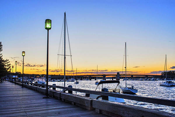 Photograph - Newburyport Waterfront At Dusk Newburyport Ma by Toby McGuire
