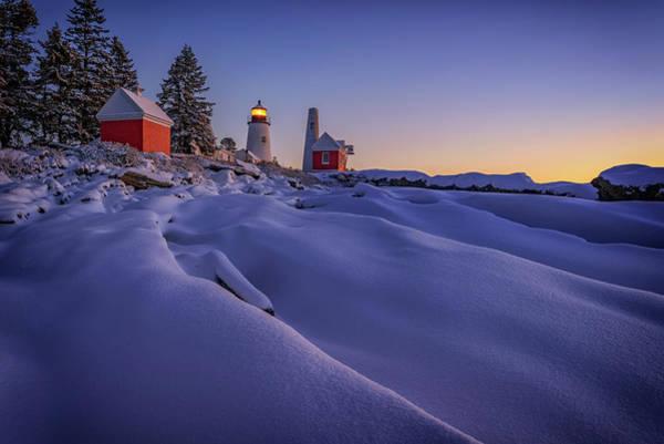 Photograph - Newfallen Snow At Pemaquid Point by Rick Berk