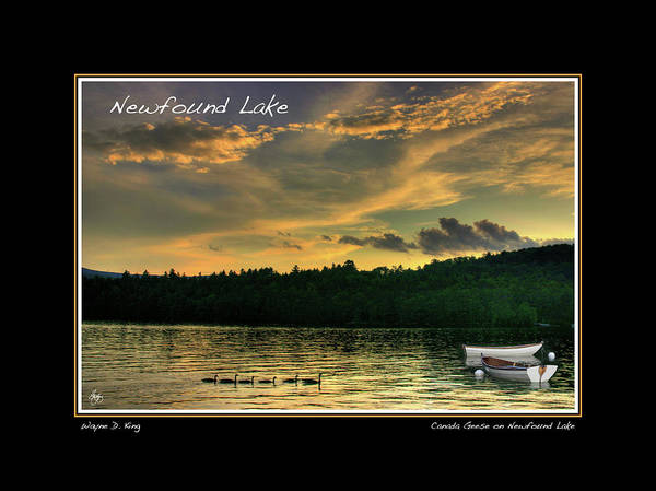 Photograph - Newfound Lake Geese And Boats Poster by Wayne King