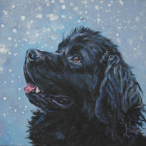 Wall Art - Painting - Newfoundland In Snow by Lee Ann Shepard