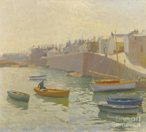 Newlyn Painting - Newlyn Harbour by MotionAge Designs