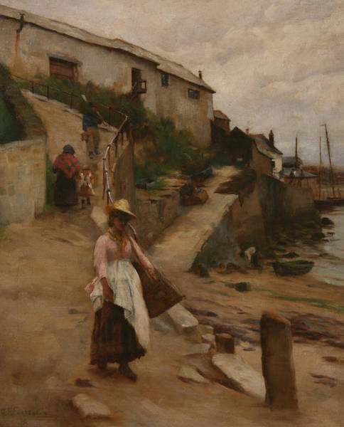 Newlyn Painting - Newlyn Slip by William Banks Fortescue