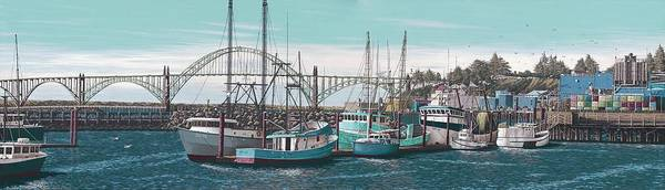 Pnw Wall Art - Painting - Newport Bayfront by Andrew Palmer