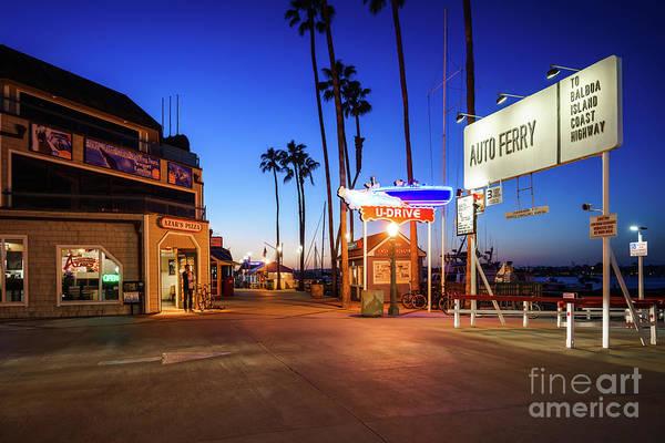 2017 Photograph - Newport Beach Balboa Auto Ferry At Sunset by Paul Velgos