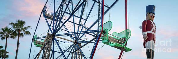 Wall Art - Photograph - Newport Beach Balboa Fun Zone Ferris Wheel Panorama by Paul Velgos