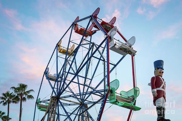 Wall Art - Photograph - Newport Beach Balboa Fun Zone Ferris Wheel by Paul Velgos