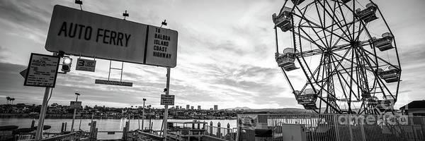 Wall Art - Photograph - Newport Beach Balboa Fun Zone Panoramic Photo by Paul Velgos