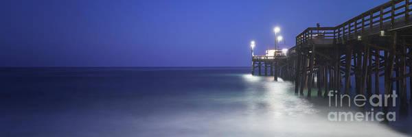 2017 Photograph - Newport Beach Balboa Pier At Night Panorama Photo by Paul Velgos