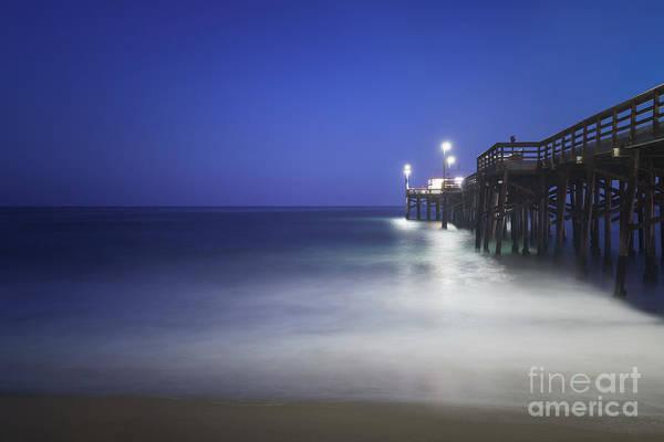 High Definition Photograph - Newport Beach Balboa Pier At Night Photo by Paul Velgos